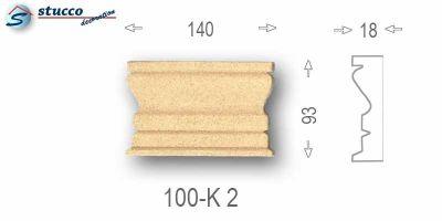 Beschichtetes Zierornament Marcus 100-K2