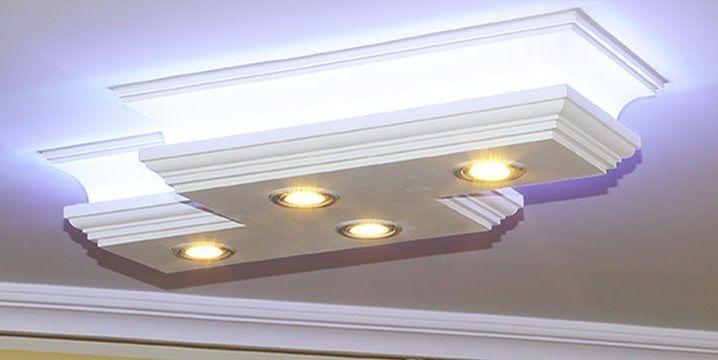 LED Deckenleuchte mit direkter indirekter Beleuchtung