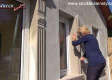 Erstes Fensterleibungsprofil montieren