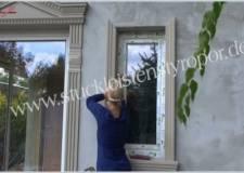 Zweites Fassadenprofil zur Leibungsverkleidung anbringen
