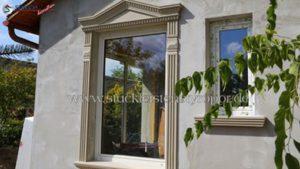 Beschichtete Fassadenprofile und Zierornamente