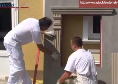 Fassadenstuck Zierleiste anbringen