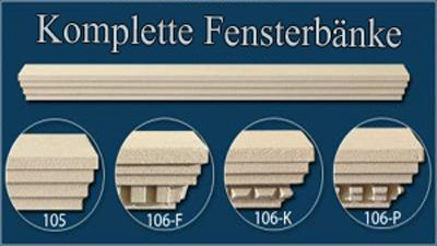 Fensterbank-Stuckmuster