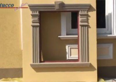 Fertige Fensterverzierung