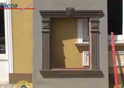 Fertig beschichtete Fensterumrandung