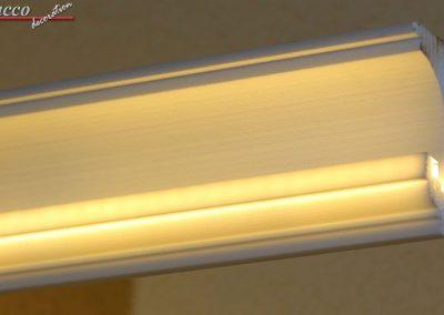 LED Stuckleiste ohne Aluprofil