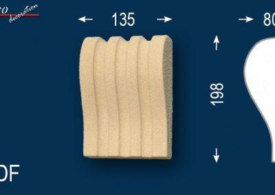 Beschichtete Fassadenprofile Schlussstein Julius 100-DF