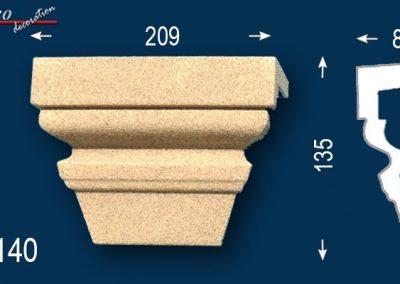 Beschichtete Fassadenstuck Zierleisten Schlusssteine Ankara 108-DF