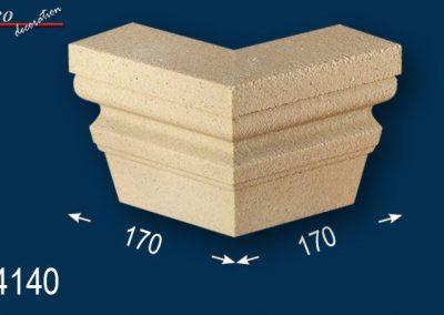 Fassadenstuck Zierleisten Ankara 108 Eckelement beschichtet