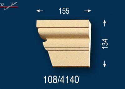 Fassadenstuck Zierleisten Ankara 108 linkes Schließelement zum Fenster