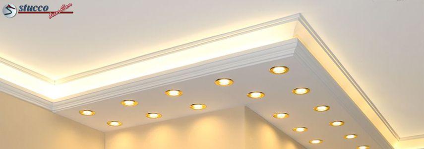 LED Stuckprofile als Wandbeleuchtung