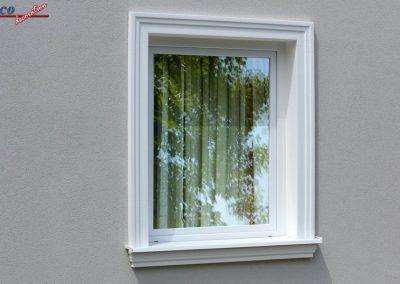 Beschichtete Fassadenstuck