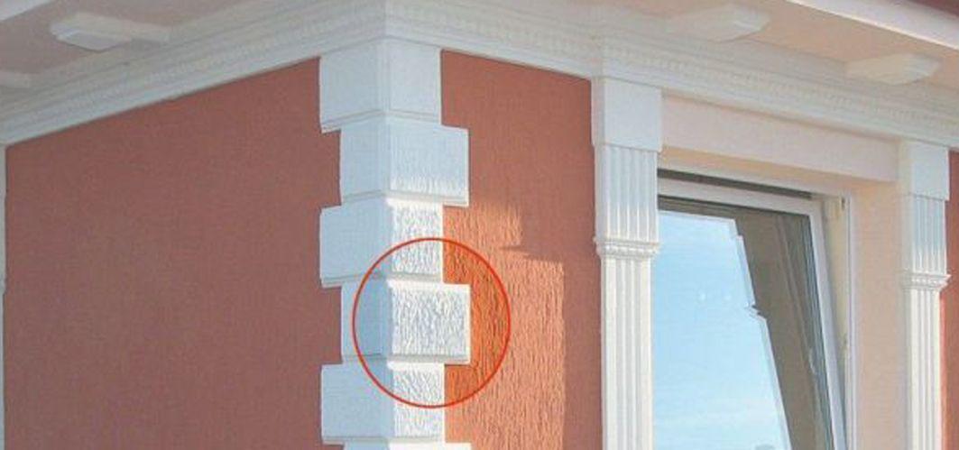 Bossensteine zur Fassadengestaltung Einfamilienhaus
