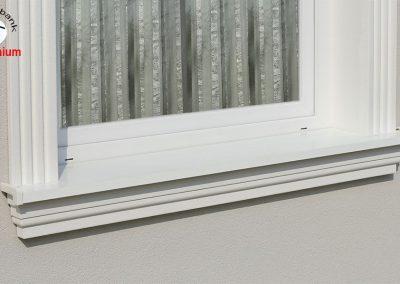 Fensterbank mit Aluminiumblech Abdeckung