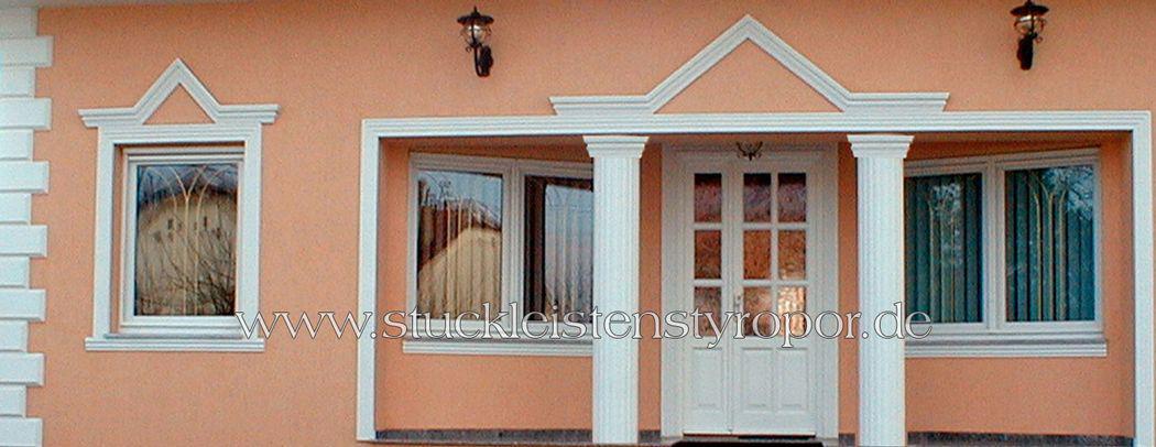 Fassadenstuck für Türen und Fenster