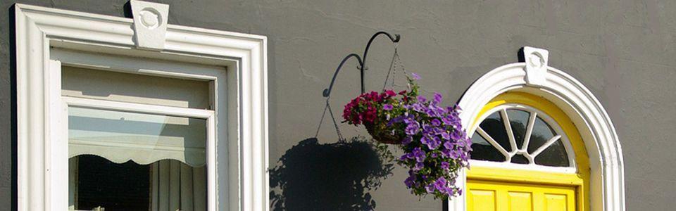 Flexible Stuckleisten für Rundfenster und -türen
