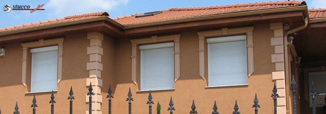 Fassadengestaltung mit beschichtetem Styropor Aussenstuck
