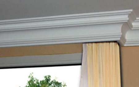 Vorhangleisten zum Verbergen der Gardinenschienen