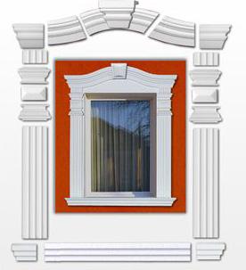 Fensterumrandung aus einzelnen Stuckelementen zusammensetzen