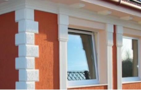 Fassadenverzierung mit Bossensteinen