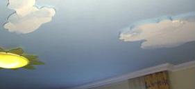 Styropor Wolken zur Kinderzimmergestaltung