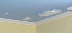 Deckengestaltung Kinderzimmer mit Wolken Styropor
